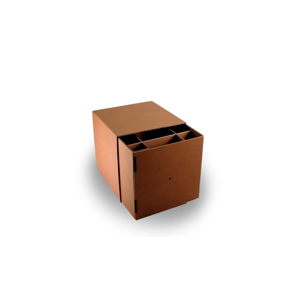 Cube avec renforts pour assise